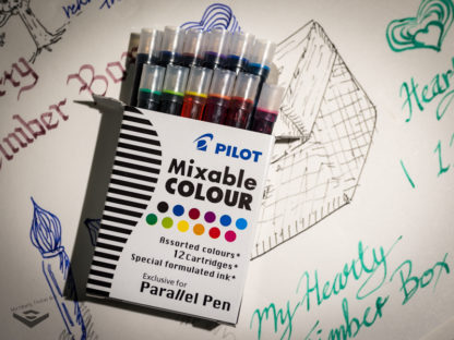Pilot Parallel Pen Ink Cartridges (Set of 12) – Assorted