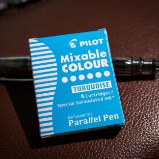 Pilot Parallel Pen Ink Cartridges (Set of 6) – Turqoise