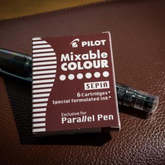 Pilot Parallel Pen Ink Cartridges (Set of 6) – Sepia