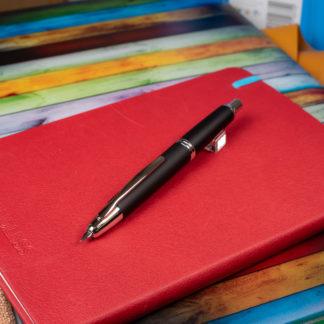 Pilot Capless Fountain Pen – Black Matte/Silver