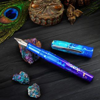 Benu Talisman Fountain Pen – Peacock Ore